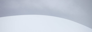 Snow covers a hill along the Lemaire Channel, Antarctica, on Monday, Jan. 26, 2009.