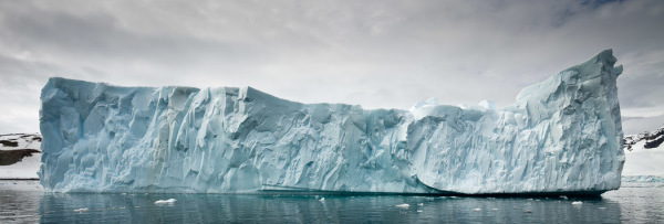 An iceberg floats in the Antarctic water off Danko Island on Monday, Jan. 19, 2009.